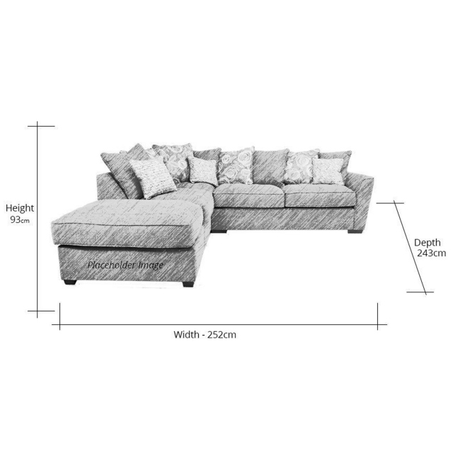 Memphis Right Hand Corner Sofa