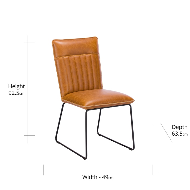 Baker Cromwell Dining Chair Tan