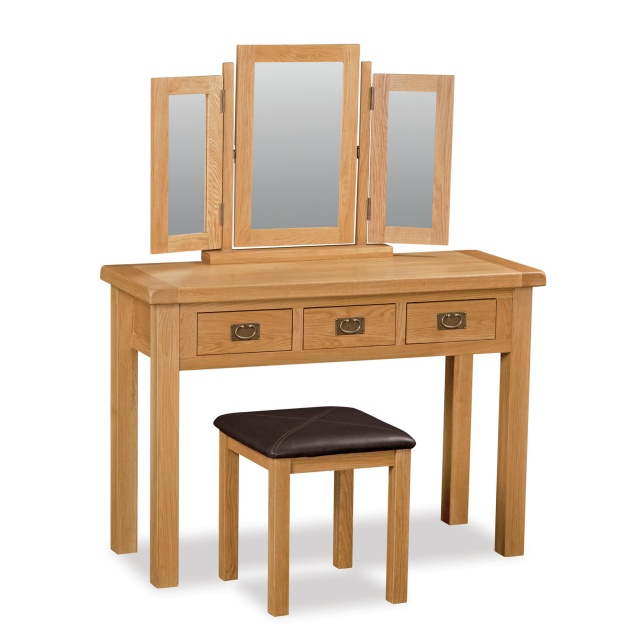 Cheltenham Oak Triple Mirror