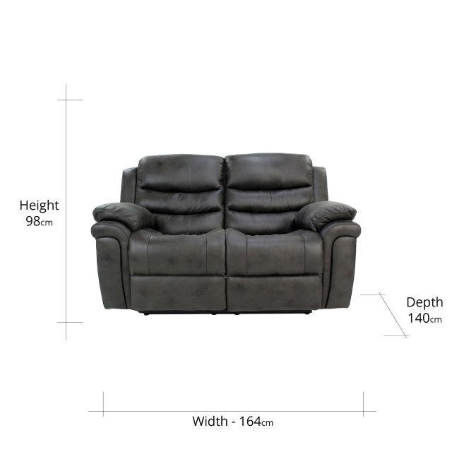 Detroit 2 Seater Recliner Sofa