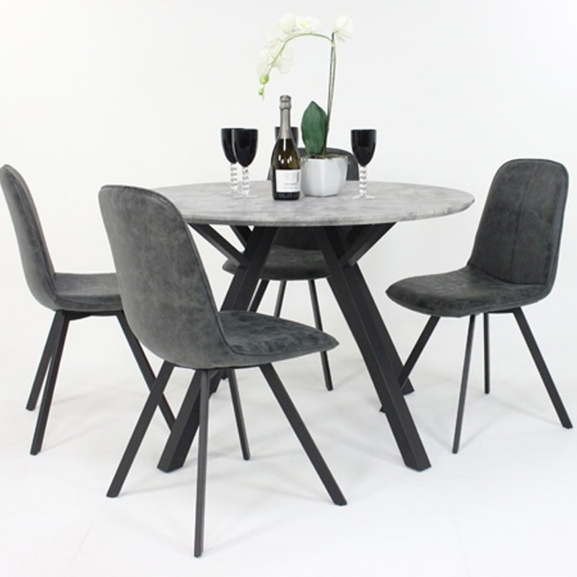 Classic Furniture Tetris Round Dining Table