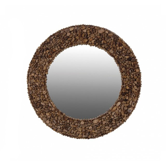 round driftwood mirror thumbnail image
