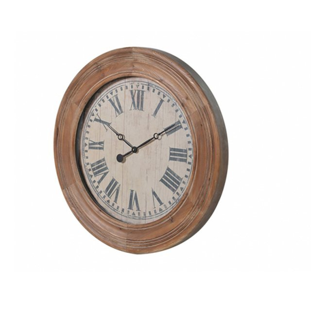 Large Round Wooden Wall Clock thumbnail