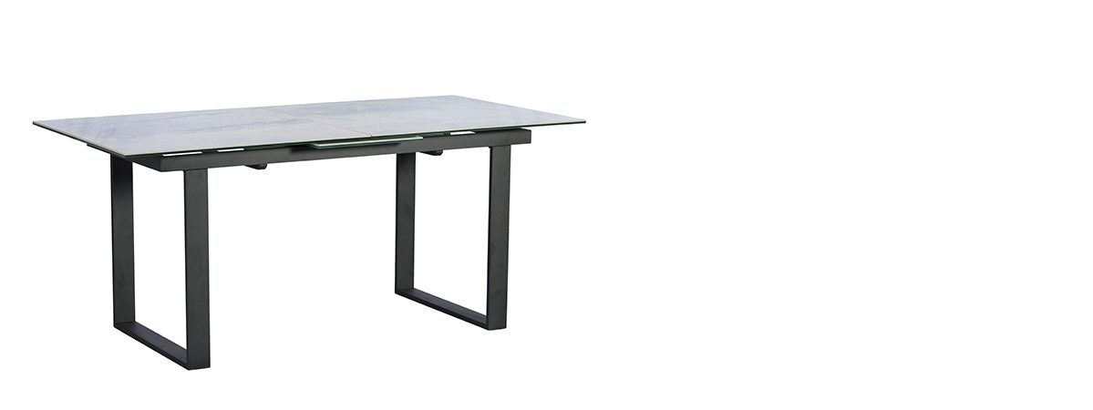 Potter 176cm - 216cm Ext Dining Table Ceramic Light Grey