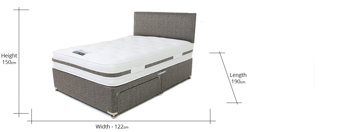 Comfort Plus Divan Set Including 2 Drawers and Headboard