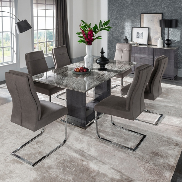 Pavia 180cm Dining Set with 4 Chairs