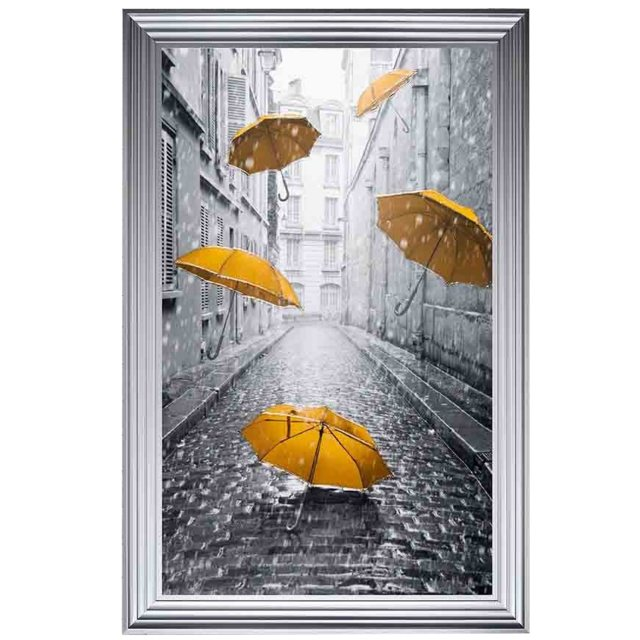 Yellow Umbrellas Wall Art