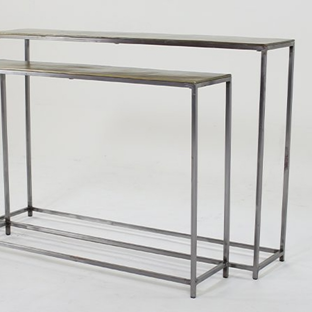Trieste Gold Console Table