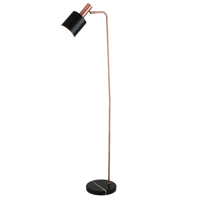 Black & Copper Task Floor Lamp