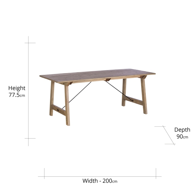 Madeira 200cm Dining Table