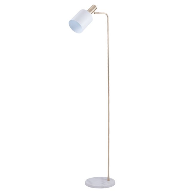 Marble Footed White & Gold Floor Lamp