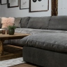 Victoria James Designs The Cloud Large Right Hand Corner Sofa with Footstool