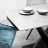 Ikrasia Manhattan Ceramic 140cm - 180cm Extending Dining Table - Light Grey