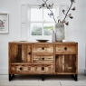 Reclaimed Ranch Wide Wooden Sideboard FSC Certified