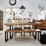 Reclaimed Ranch Extending Wooden Dining Table FSC Certified