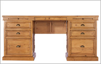 CAMILLA LARGE DESK in Honey Oak