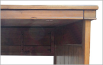 CAMILLA SMALL DESK in Honey Oak