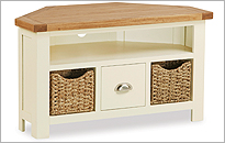 Country Cottage Corner TV Cabinet