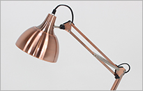 Harvey Angled Copper Desk Lamp