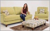 Fabric Upholstered Sofa