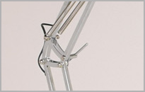 Chrome Angled Floor Lamp